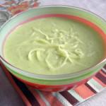 Суп из огурца с плавленым сыром